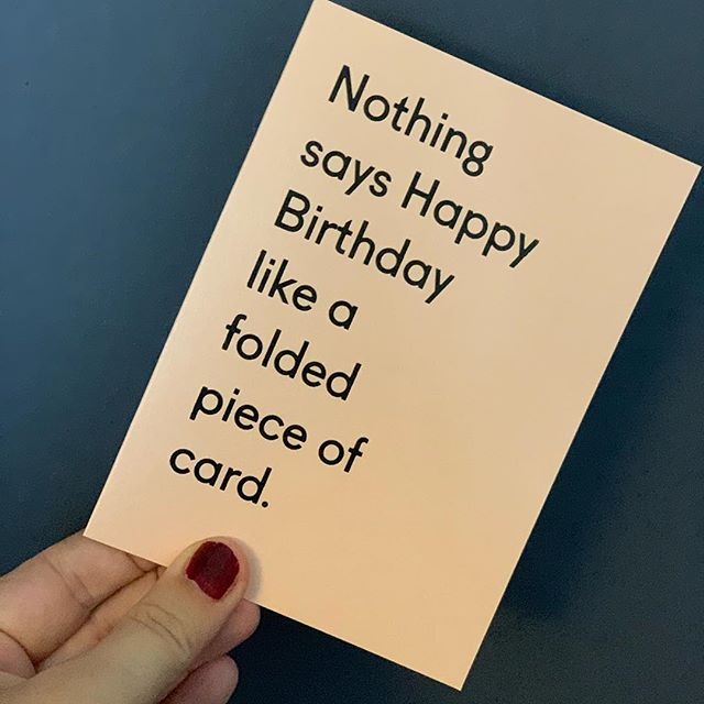 Perfect birthday card